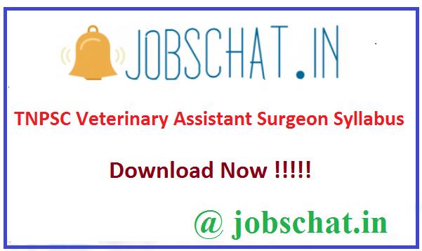 TNPSC Veterinary Assistant Surgeon Syllabus