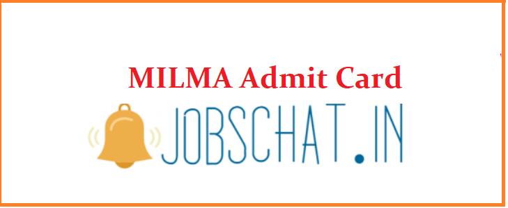 MILMA Admit Card