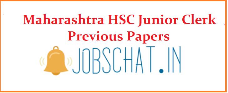 Maharashtra HSC Junior Clerk Previous Papers