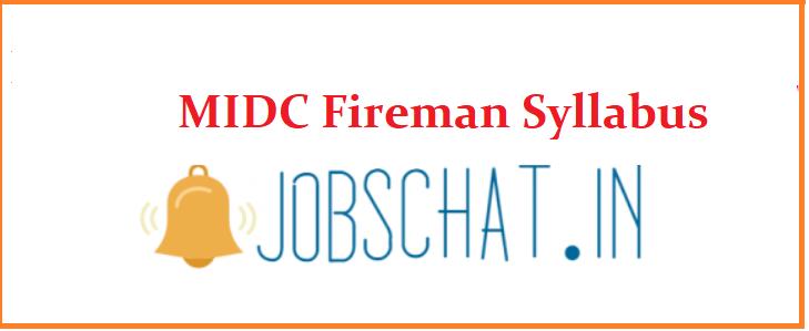 MIDC Fireman Syllabus