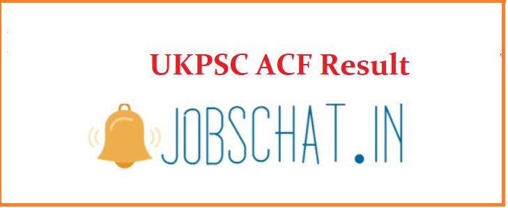 UKPSC ACFResult