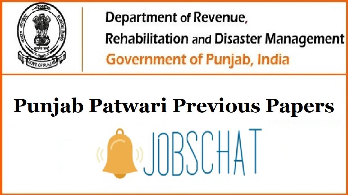 Punjab Patwari Previous Papers