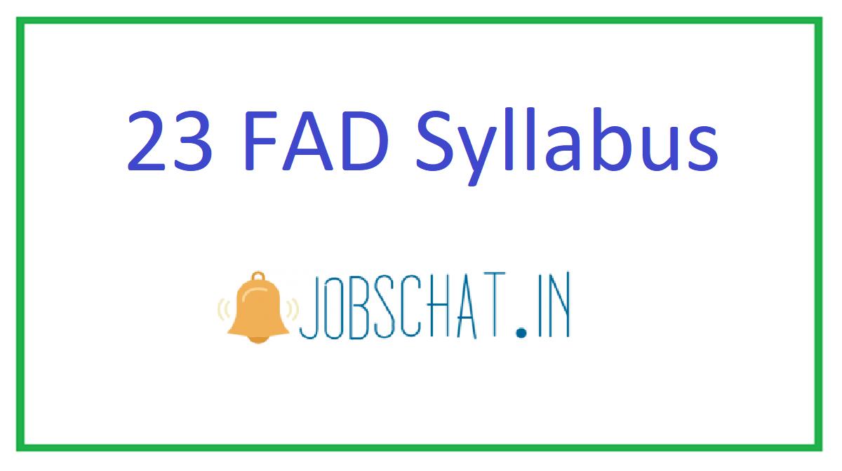 23 FAD Syllabus
