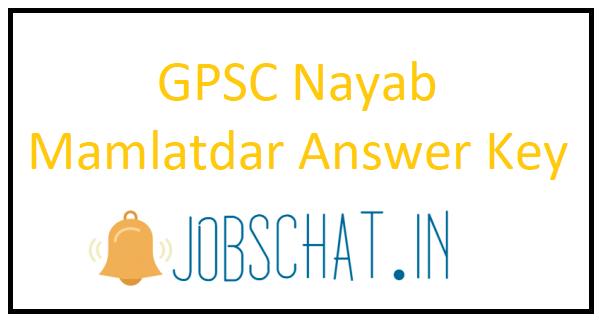 GPSC Nayab Mamlatdar Answer Key