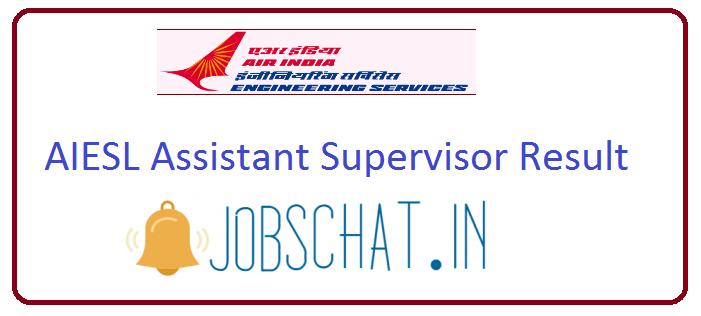 AIESL Assistant Supervisor Result