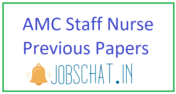 AMC Staff Nurse Previous Papers