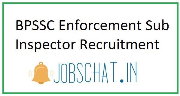 BPSSC Enforcement Sub Inspector Recruitment