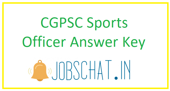 CGPSC Sports Officer Answer Key