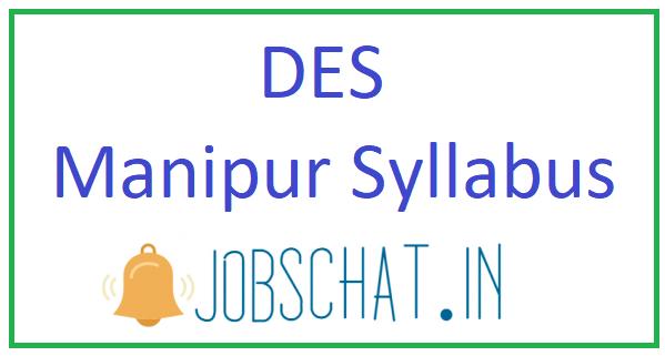 DES Manipur Syllabus