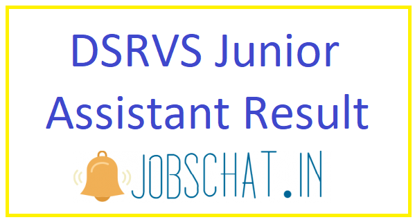DSRVS Junior Assistant Result