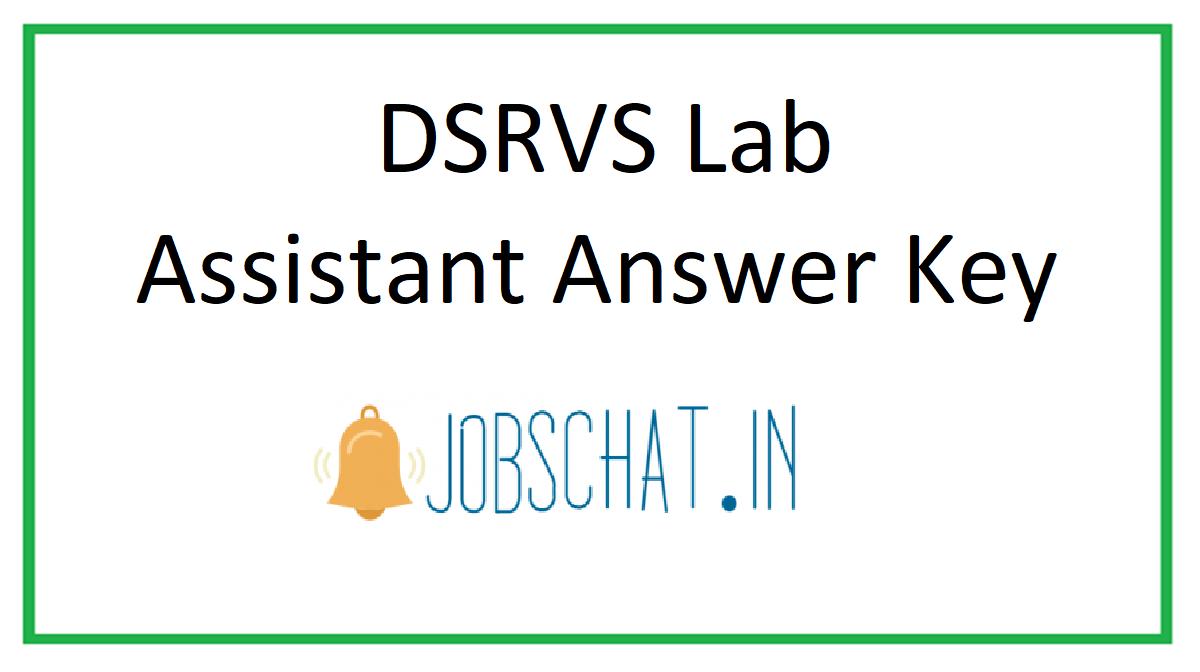 DSRVS Lab Assistant Answer Key