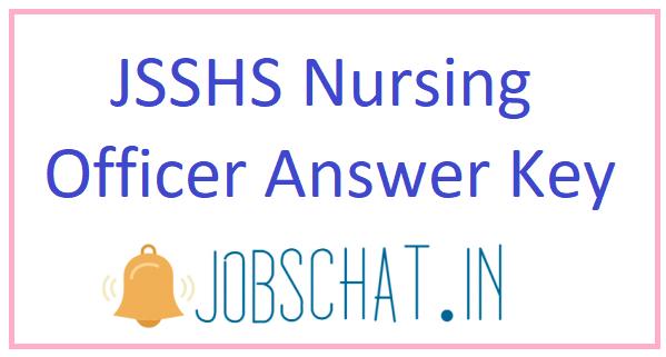 JSSHS Nursing Officer Answer Key