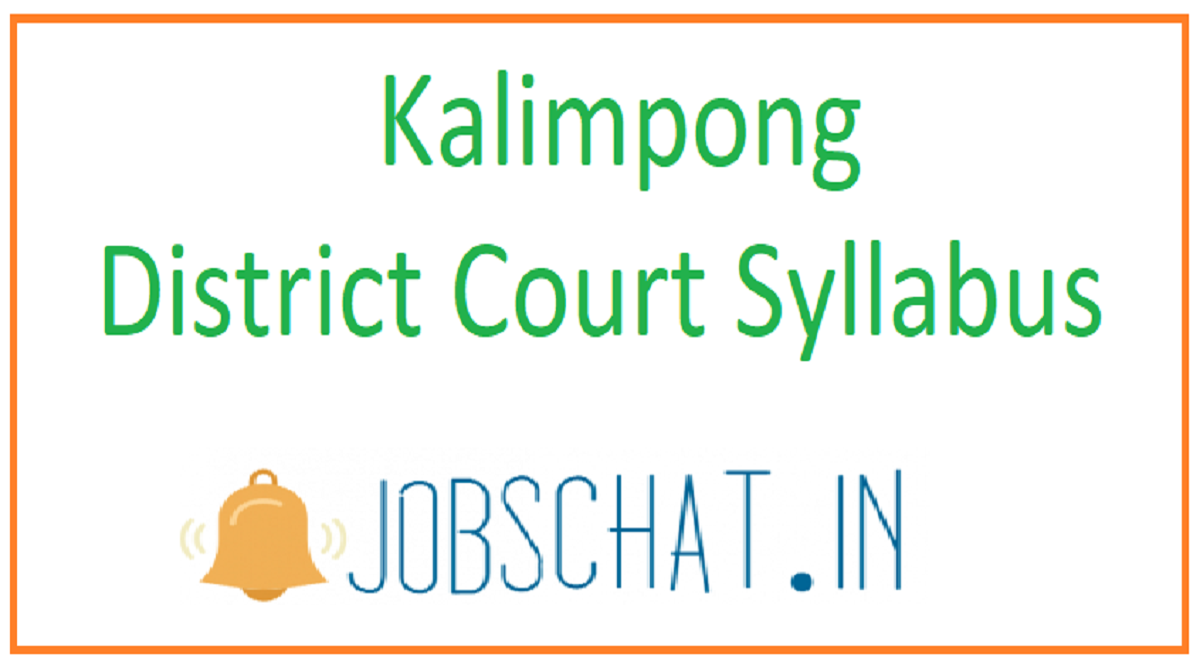 Kalimpong District Court Syllabus