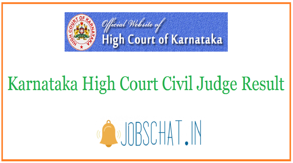 Karnataka High Court Civil Judge Result