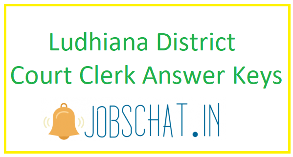 Ludhiana District Court Clerk Answer Keys