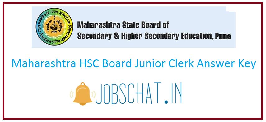 Maharashtra HSC Board Junior Clerk Answer Key
