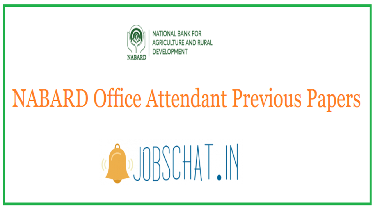 NABARD Office Attendant Previous Papers