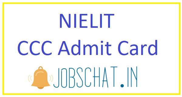 NIELIT CCC Admit Card