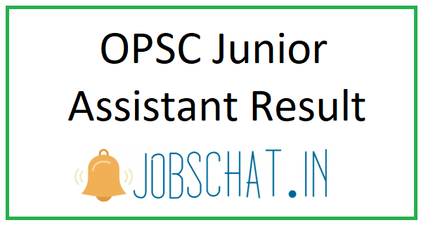 OPSC Junior Assistant Result