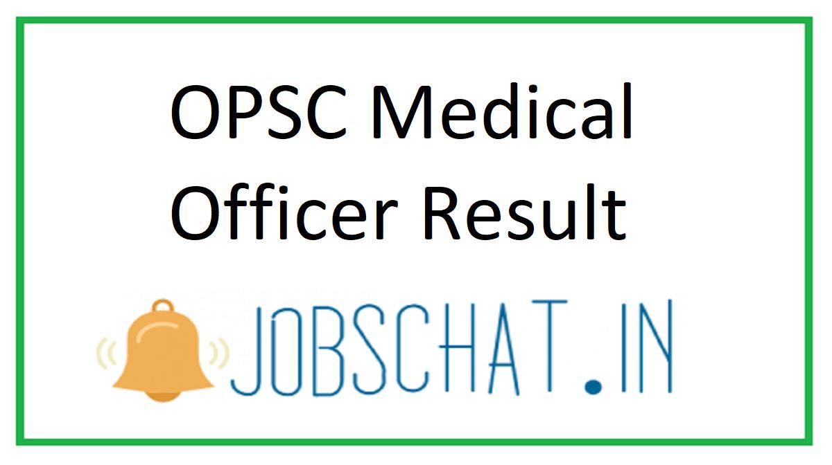 OPSC Medical Officer Result