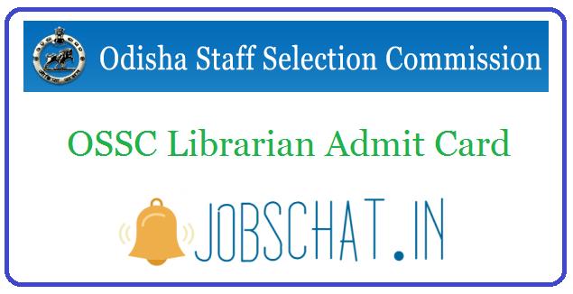 OSSC Librarian Admit Card