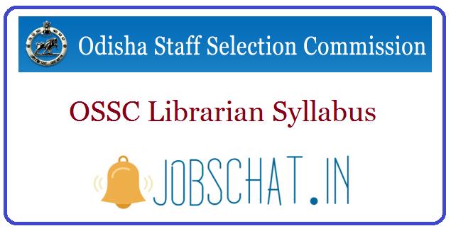 OSSC Librarian Syllabus