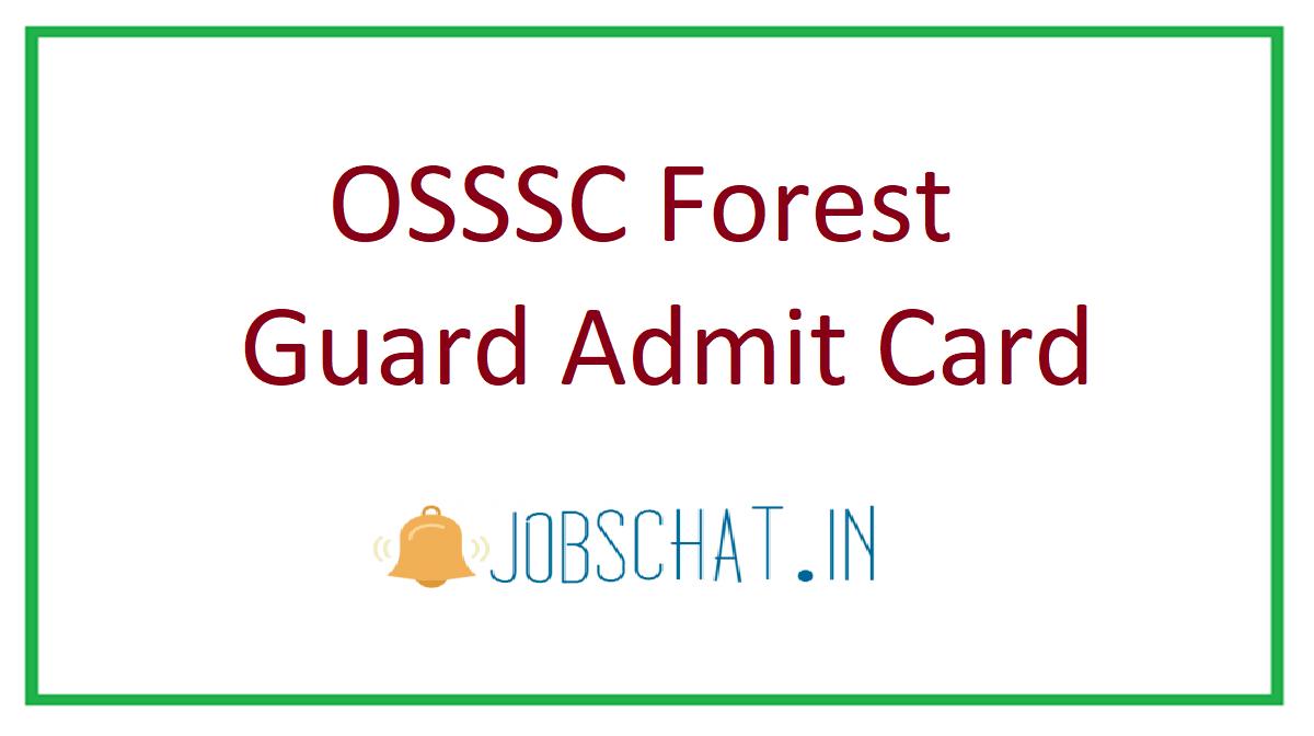 OSSSC Forest Guard Admit Card