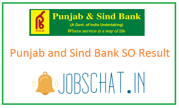 Punjab and Sind Bank SO Result