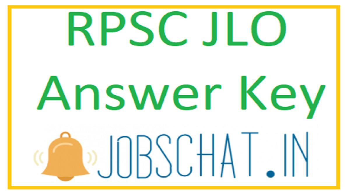 RPSC JLO Answer Key