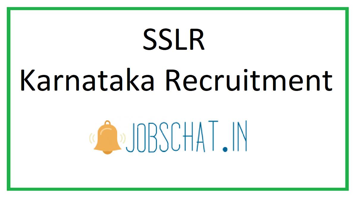 SSLR Karnataka Recruitment