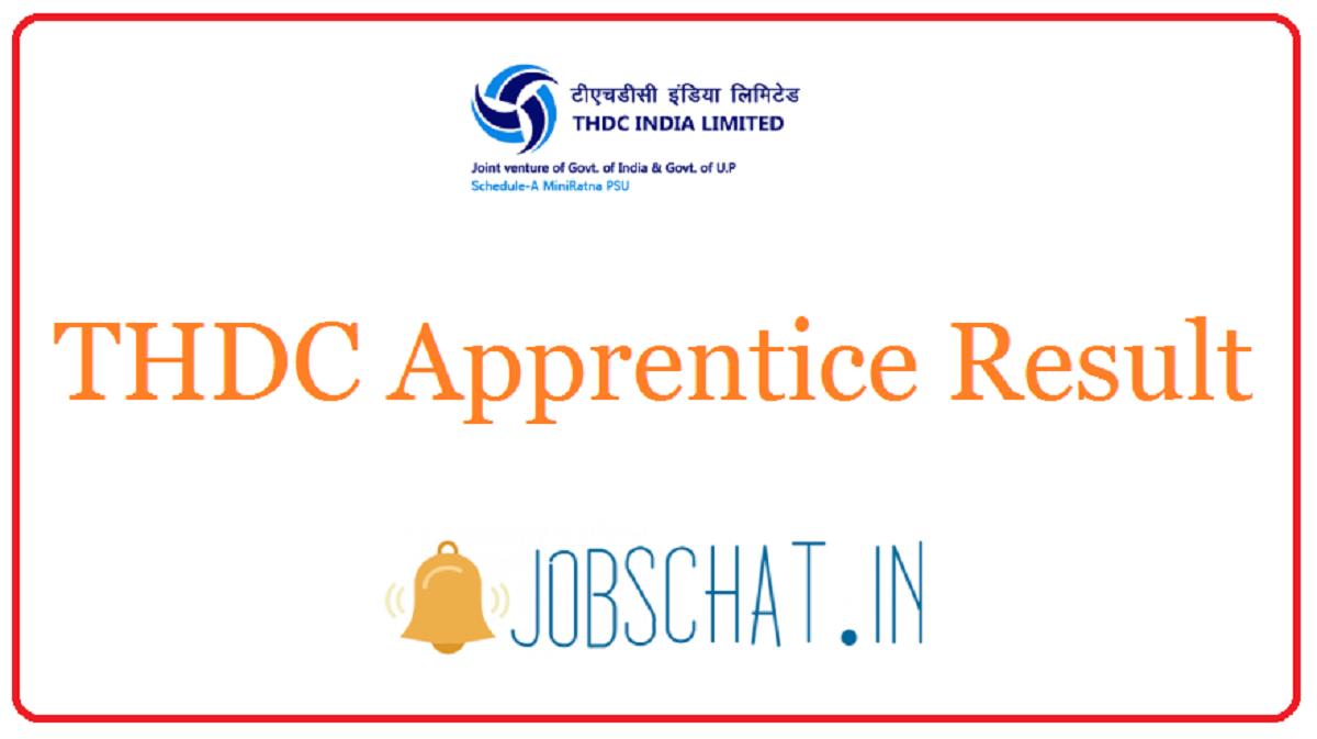 THDC Apprentice Result