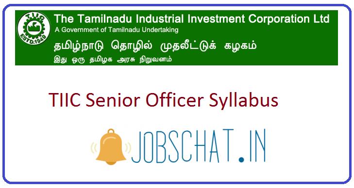 TIIC Senior Officer Syllabus
