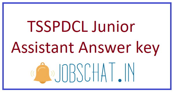 TSSPDCL Junior Assistant Answer key