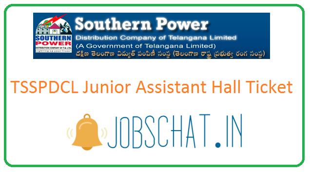 TSSPDCL Junior Assistant Hall Ticket