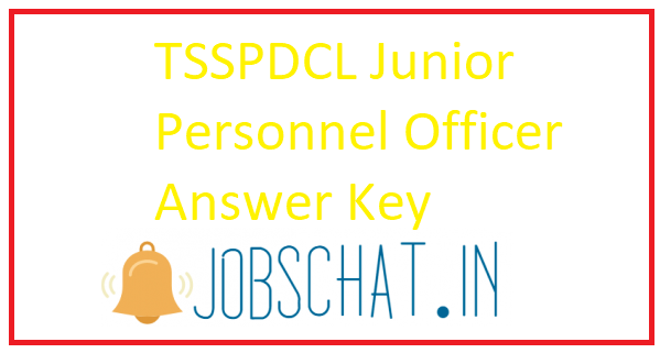 TSSPDCL Junior Personnel Officer Answer Key