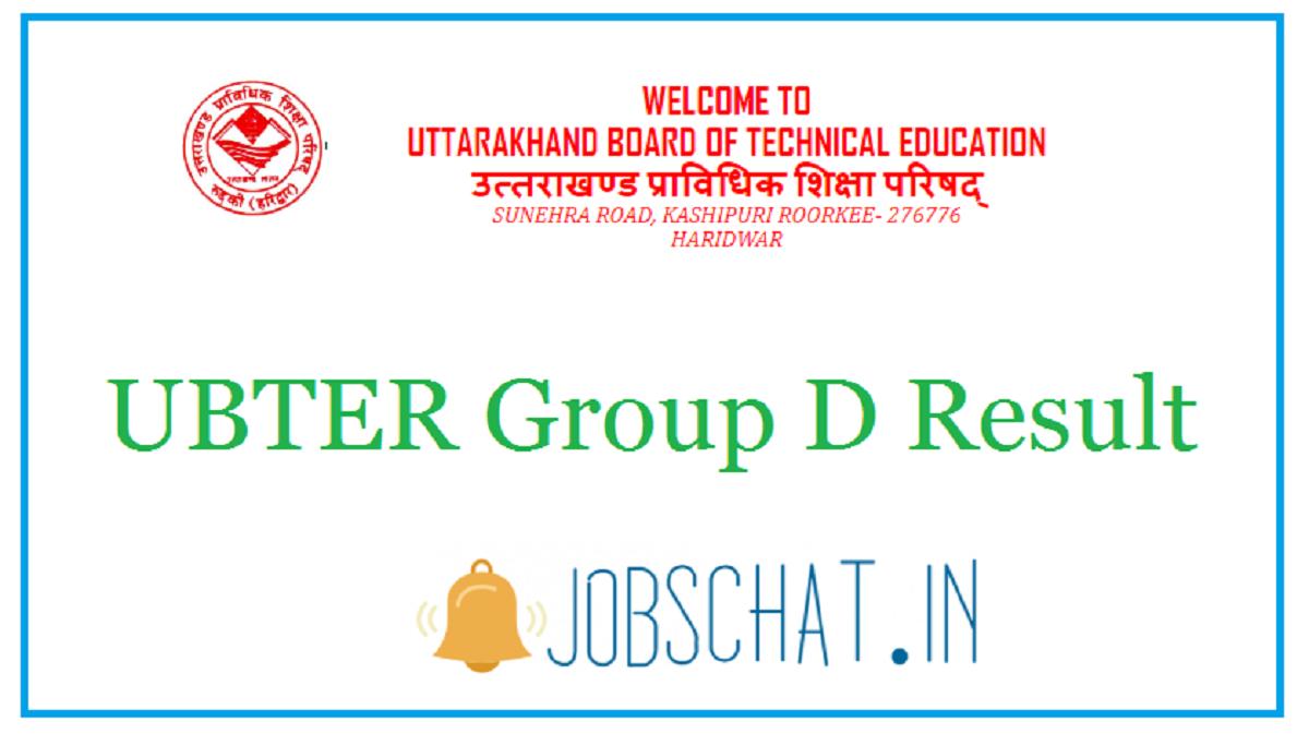 UBTER Group D Result