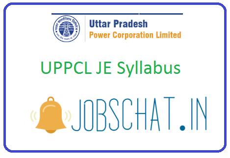 UPPCL JE Syllabus