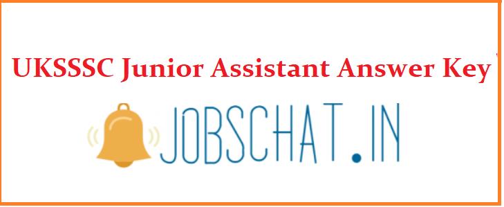 UKSSSC Junior Assistant Answer Key