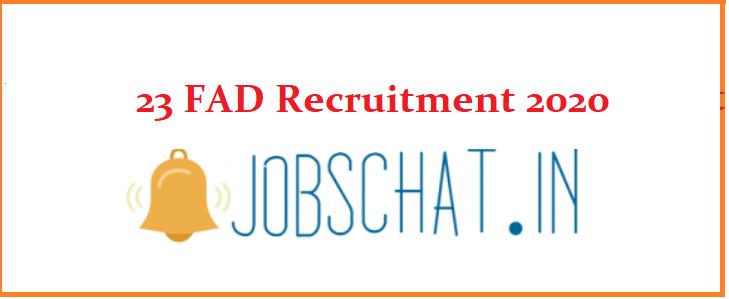 23 FAD Recruitment
