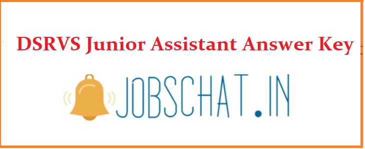 DSRVS Junior Assistant Answer Key