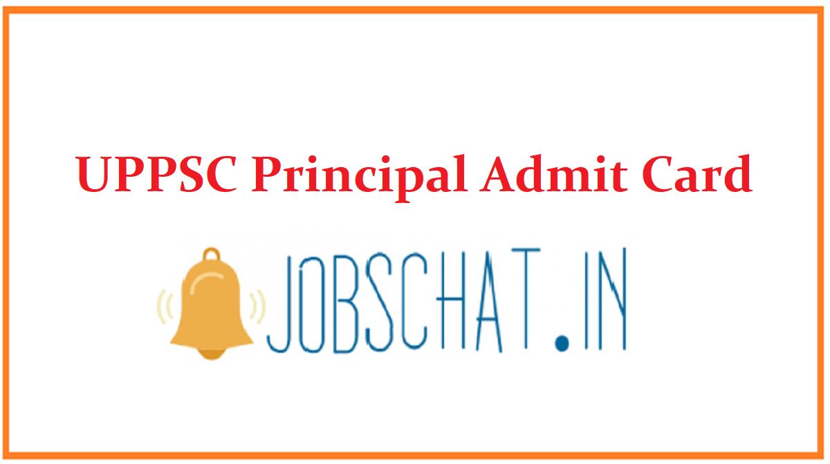 UPPSC Principal Admit Card