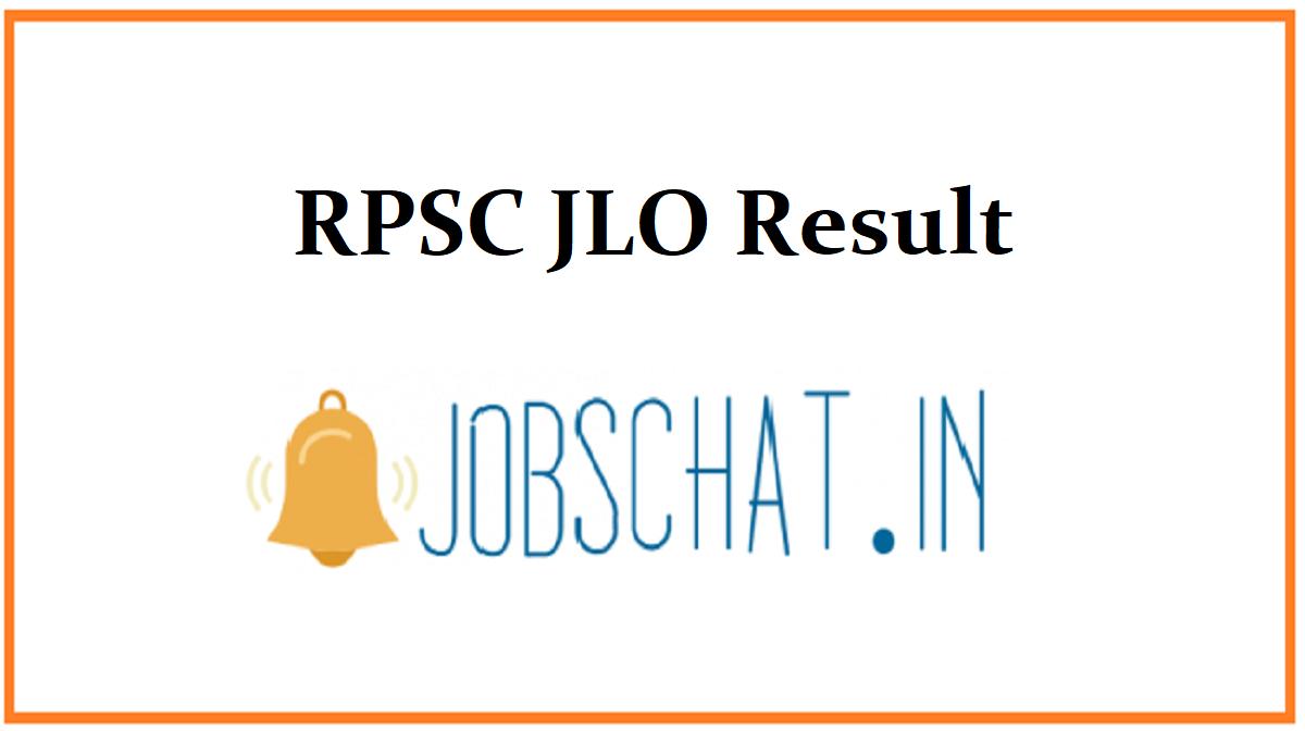 RPSC JLO Result
