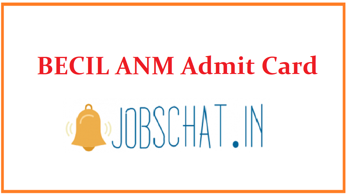BECIL ANM Admit Card