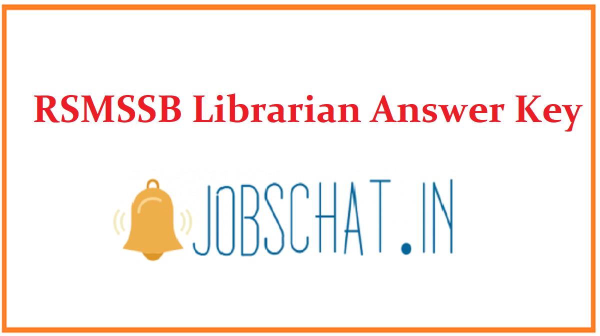 RSMSSB Librarian Answer Key