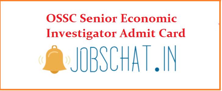 OSSC Senior Economic Investigator Admit Card