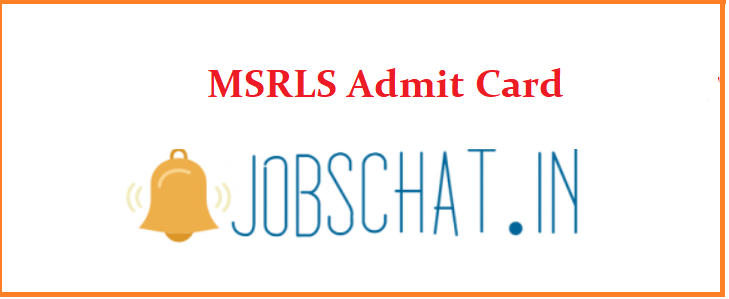 MSRLS Admit Card