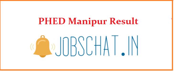 PHED Manipur Result