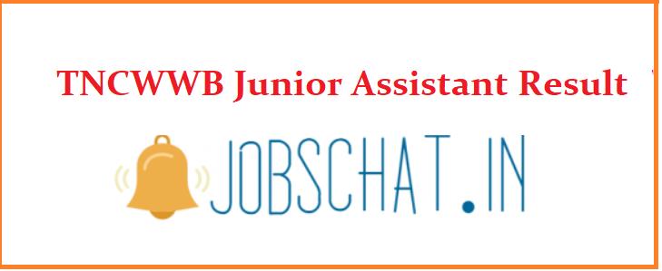 TNCWWB Junior Assistant Result
