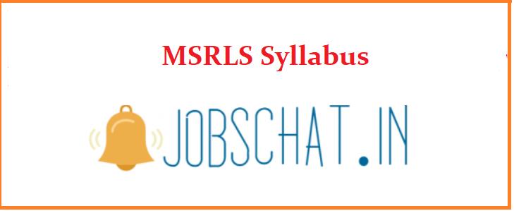 MSRLS Syllabus