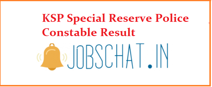 KSP Special Reserve Police Constable Result